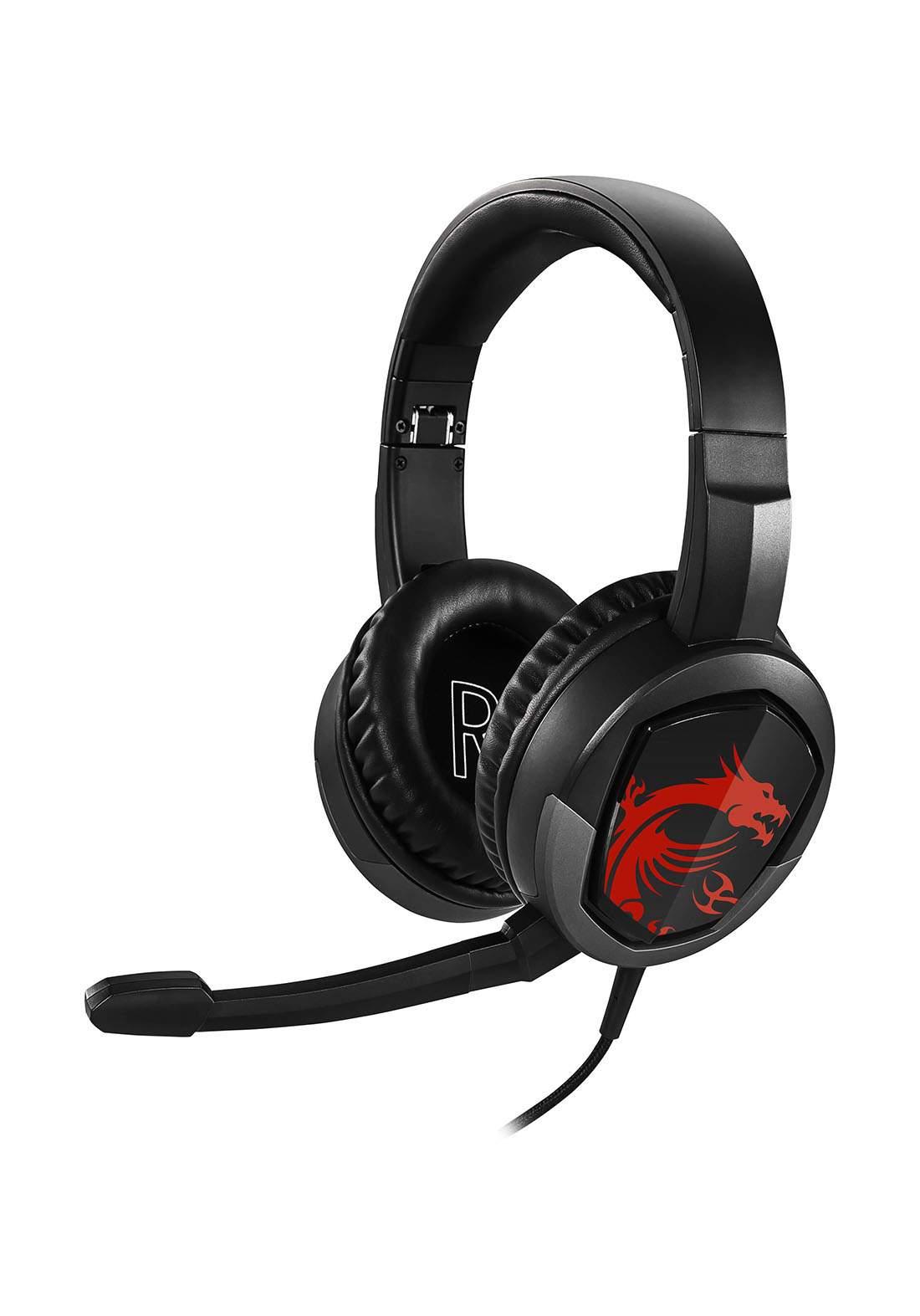 MSI GH30 Wired Gaming Headset - Black سماعة سلكية