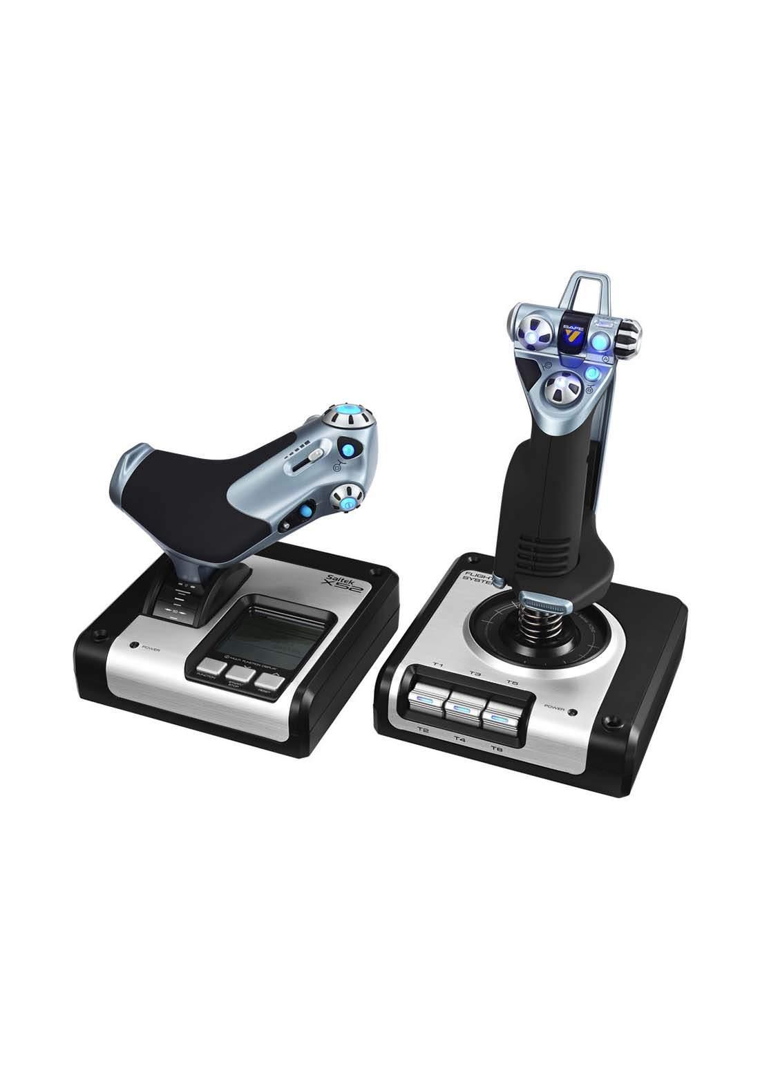 Logitech X52 Flight Control System - Black وحدة تحكم طيران