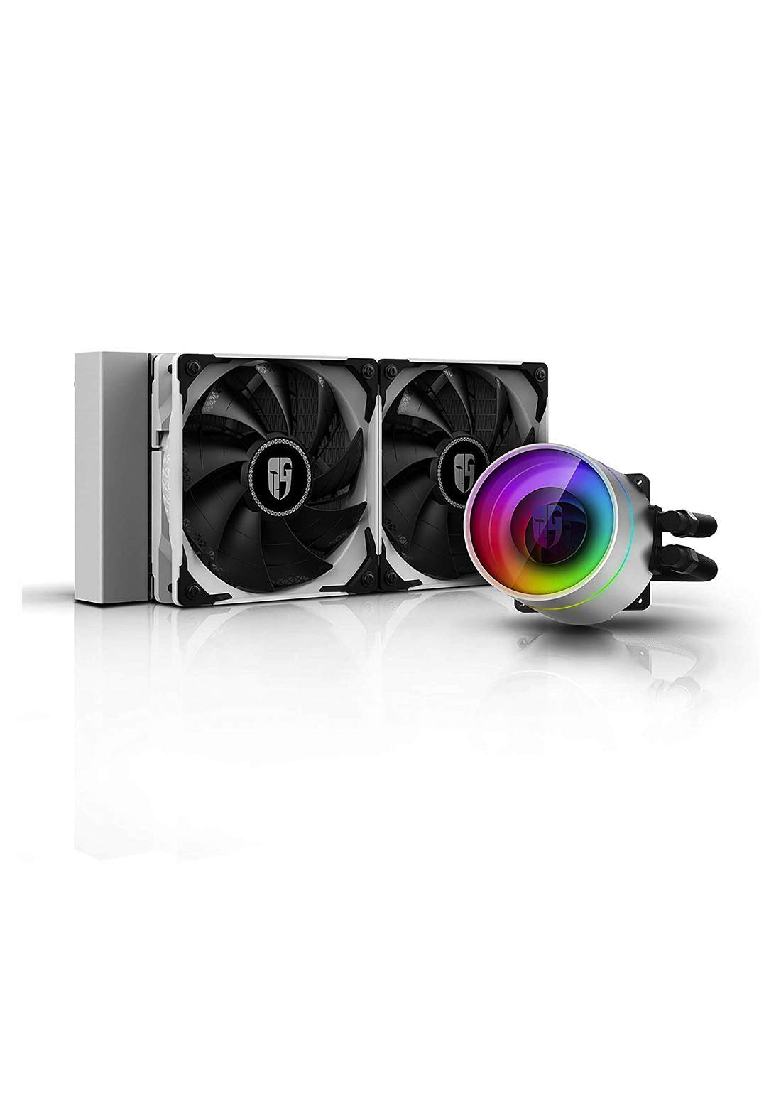 DeepCool Castle 240EX Addressable RGB AIO Liquid CPU Cooler - White مبرد معالج
