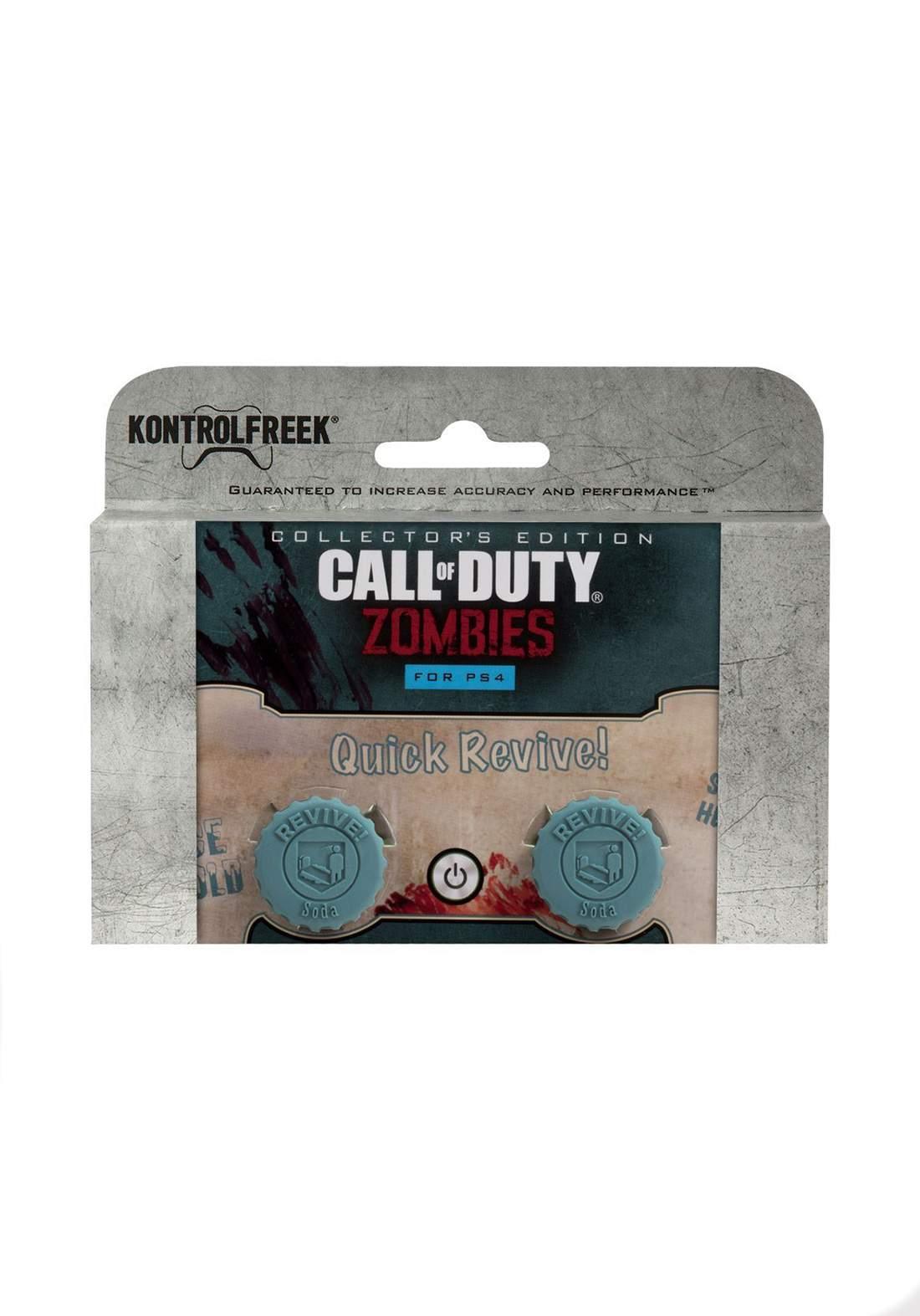 Kontrol Freek (PS4) Original Call Of Duty Zombies Juggernog Thumbsticks - Blue