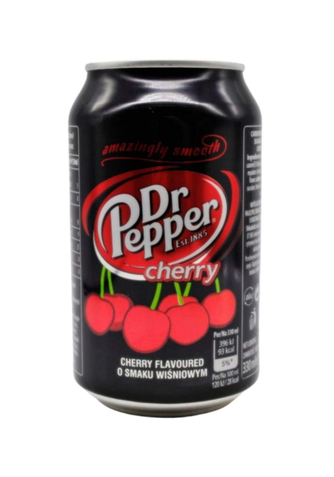 Dr. Pepper Cherry Drink مشروب بطعم الكرز 330 مل