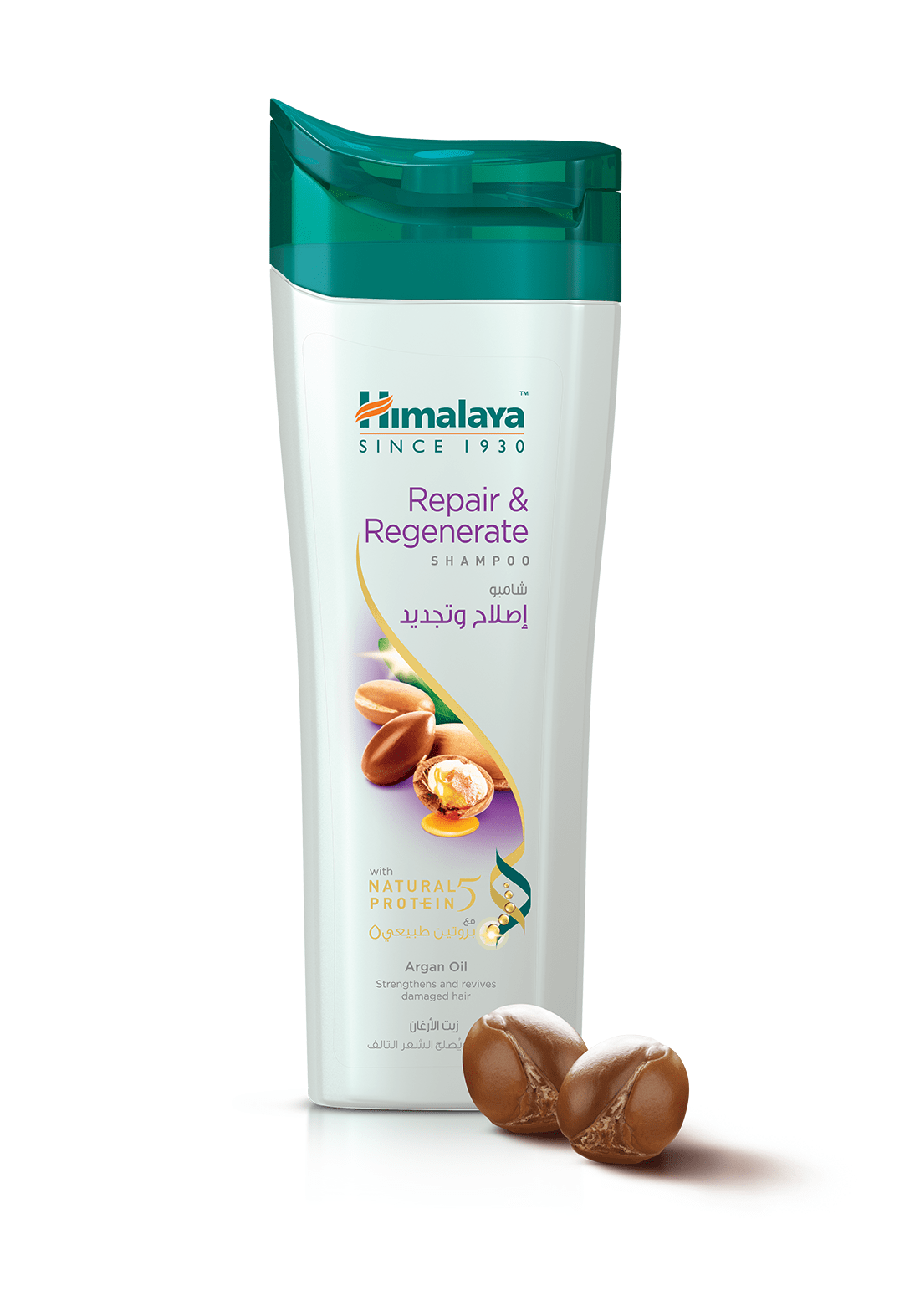 Shampoo 400ml - Repair & Regenerate هيمالايا شامبو إصلاح و تجديد بزيت الأرغان