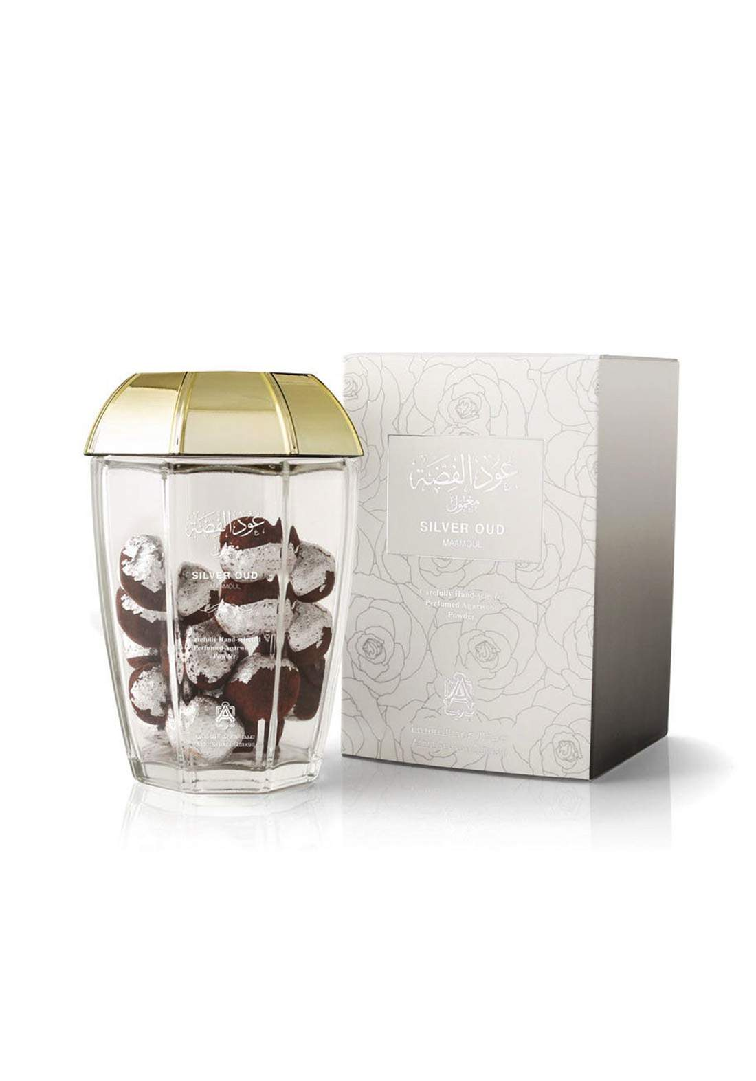 Abdul Samad Al Qurashi 74048 Silver Oud Maamoul Perfumed Agarwood Powder معمول عود الفضة