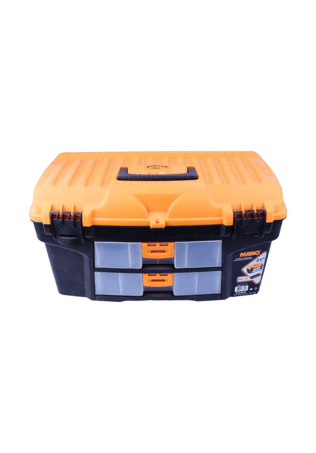 """Mano R.S-21 21"""" Toolbox With Drawer & Flat Lid حقيبة عدد يدوية"""