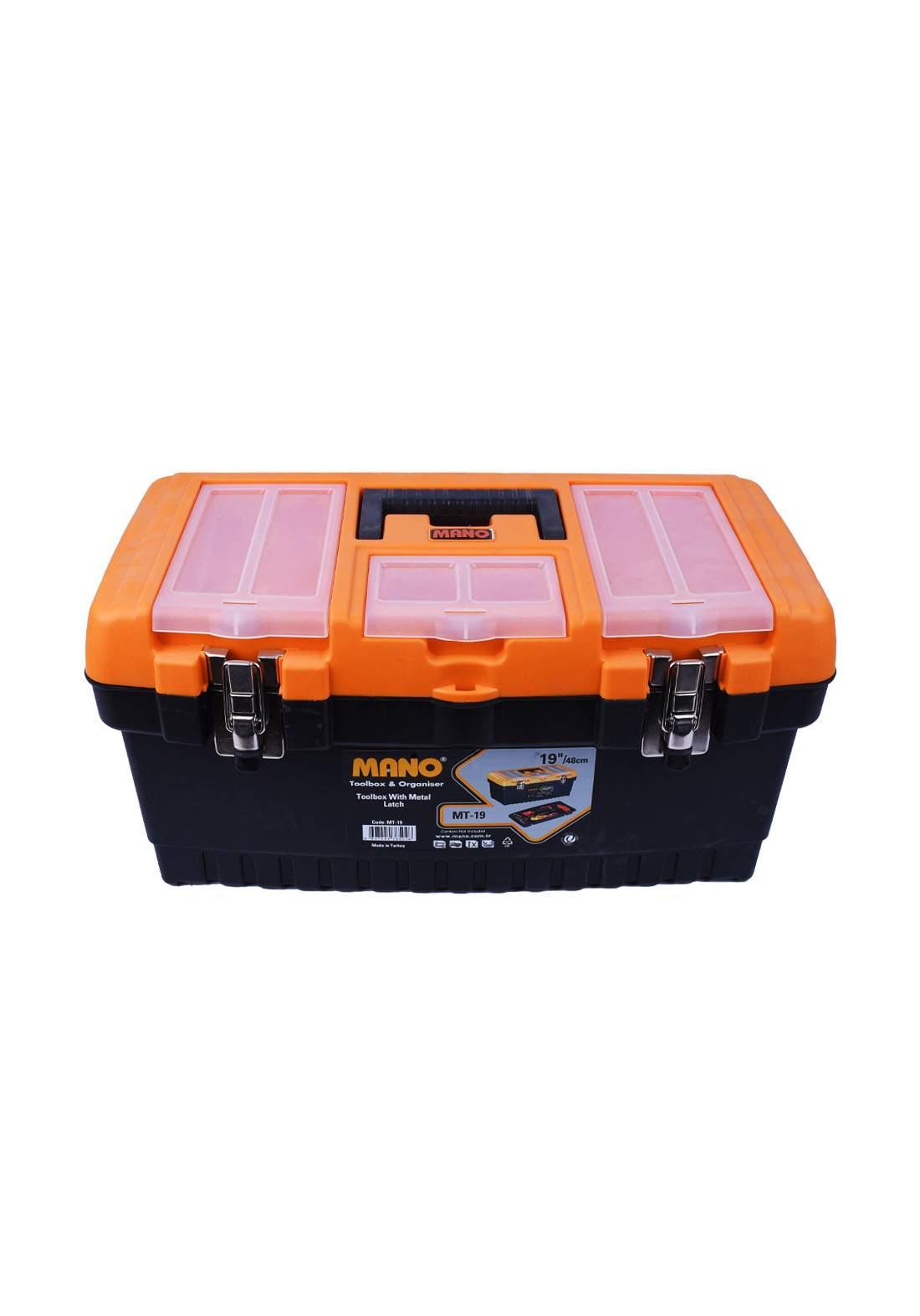 "Mano MT-19 19""/48cm Toolbox With Metal Latch حقيبة عدد يدوية"