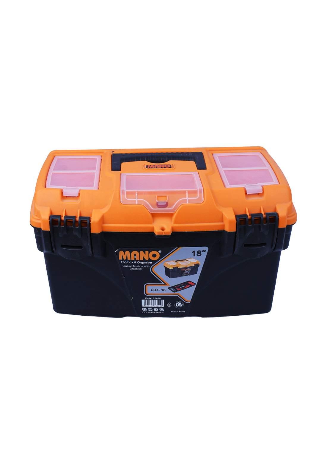 "Mano Co-18 18"" Classic Tool Bag With Organizer حقيبة عدد يدوية"