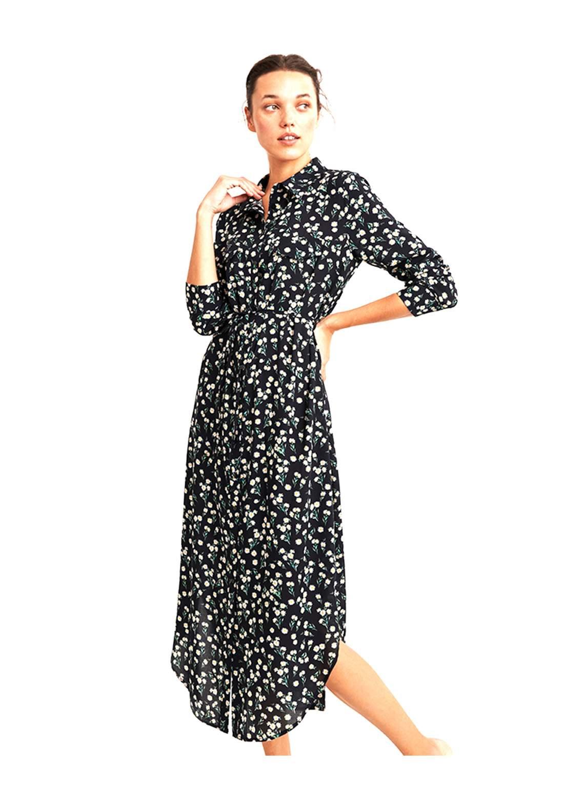 فستان نسائي طويل باكمام طويلة