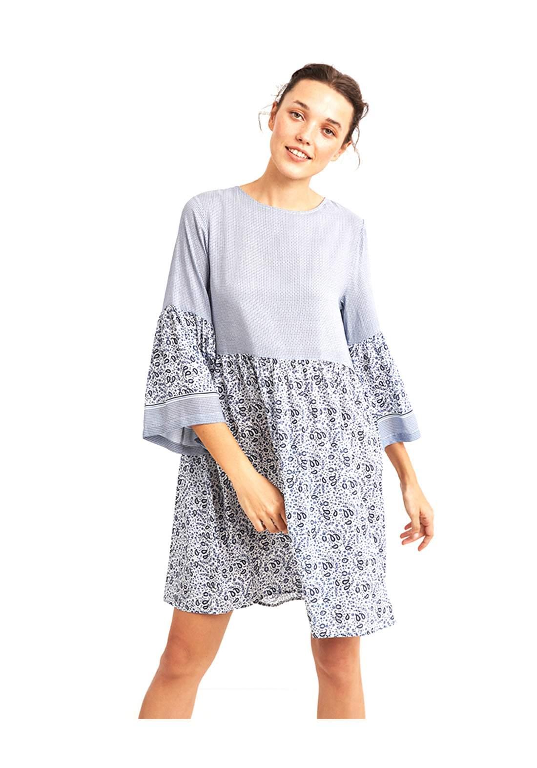 فستان نسائي قصير باكمام طويلة
