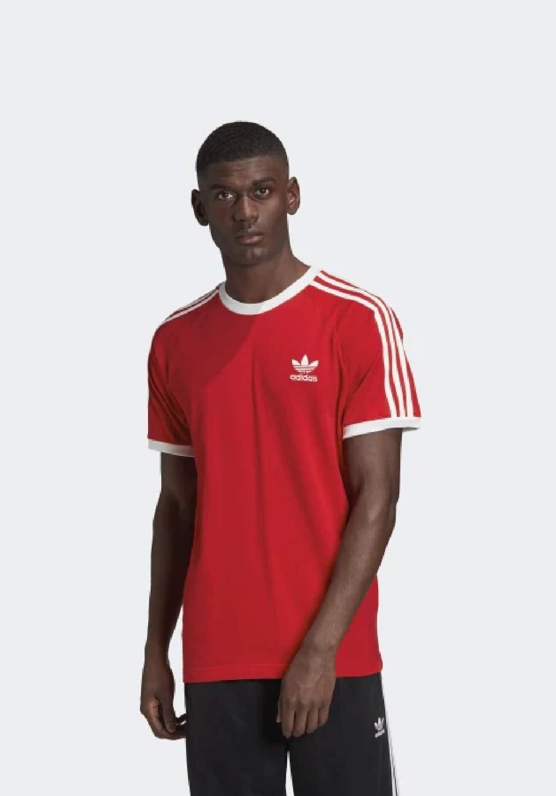 Adidas تيشيرت رجالي احمر اللون من