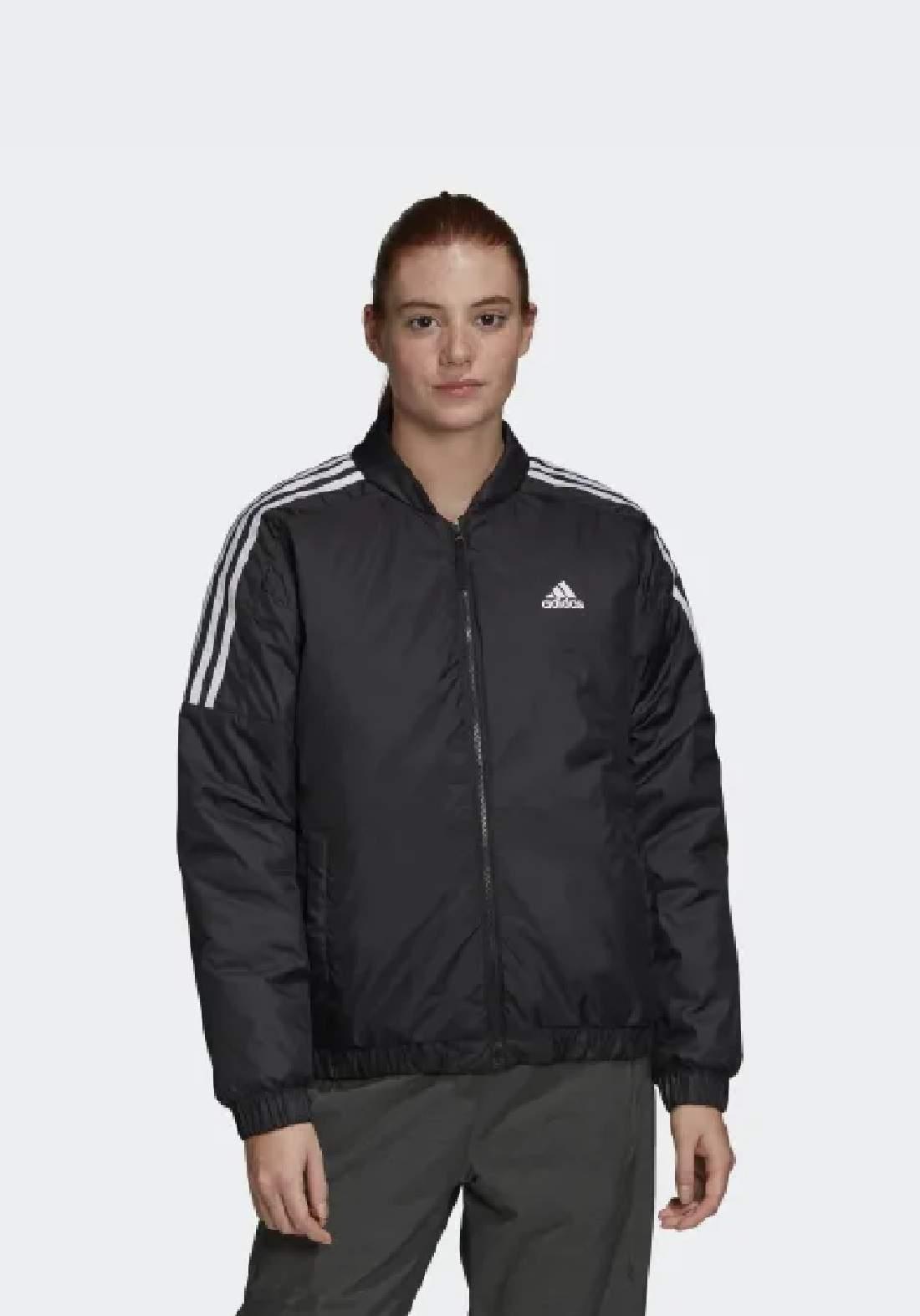 Adidas جاكيت  نسائي رياضي اسود اللون من