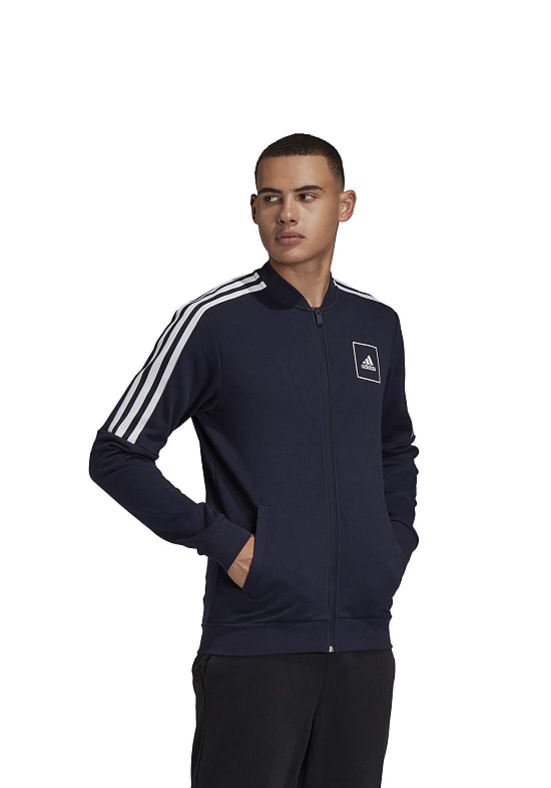 Adidas جاكيت رجالي رياضي نيلي اللون من