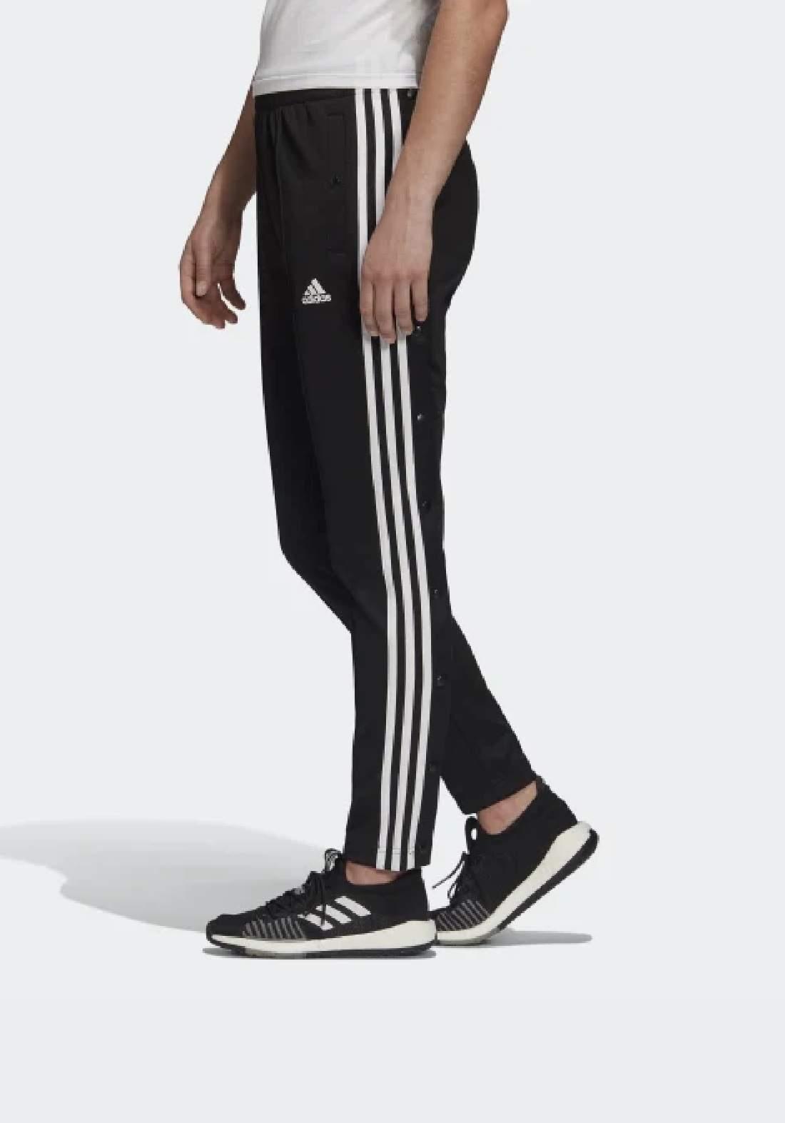 Adidas بنطلون رياضي رجالي اسود اللون من