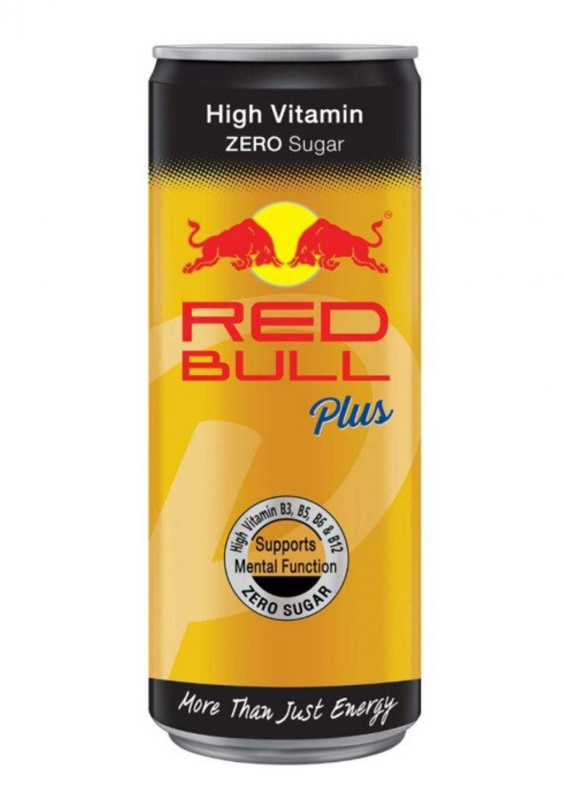 Red Bull Plus Zero ريد بول زيرو مع فيتامينات 250 مل