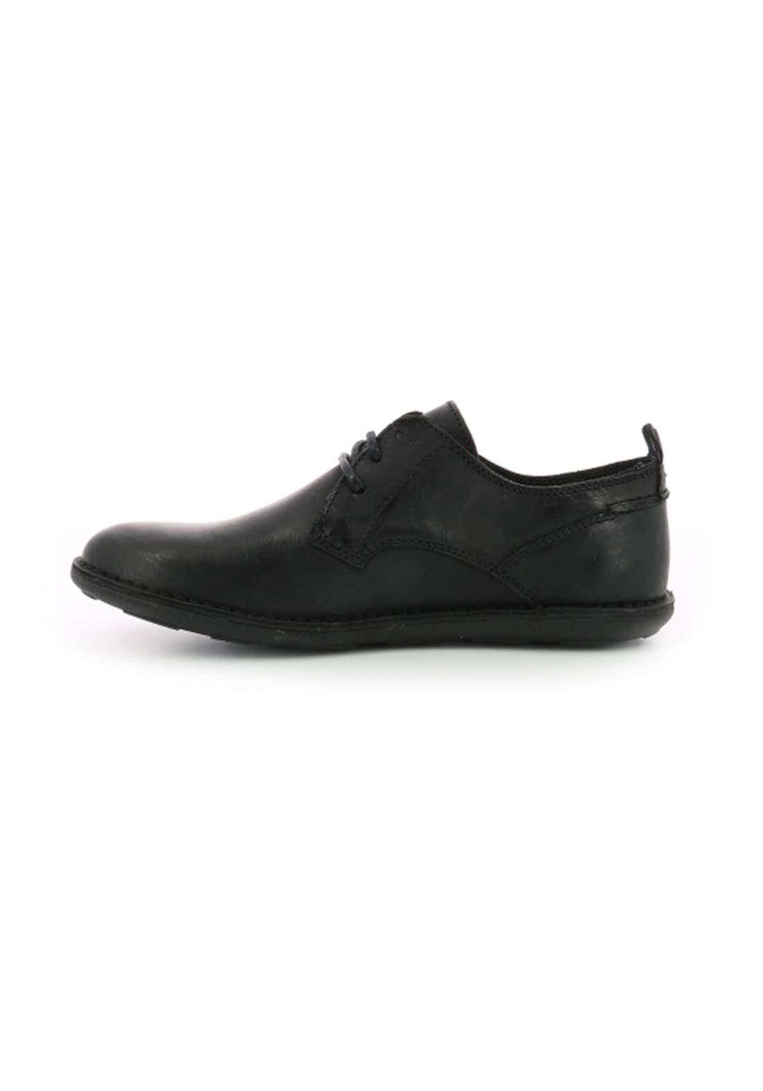 حذاء رجالي اسود اللون جلد