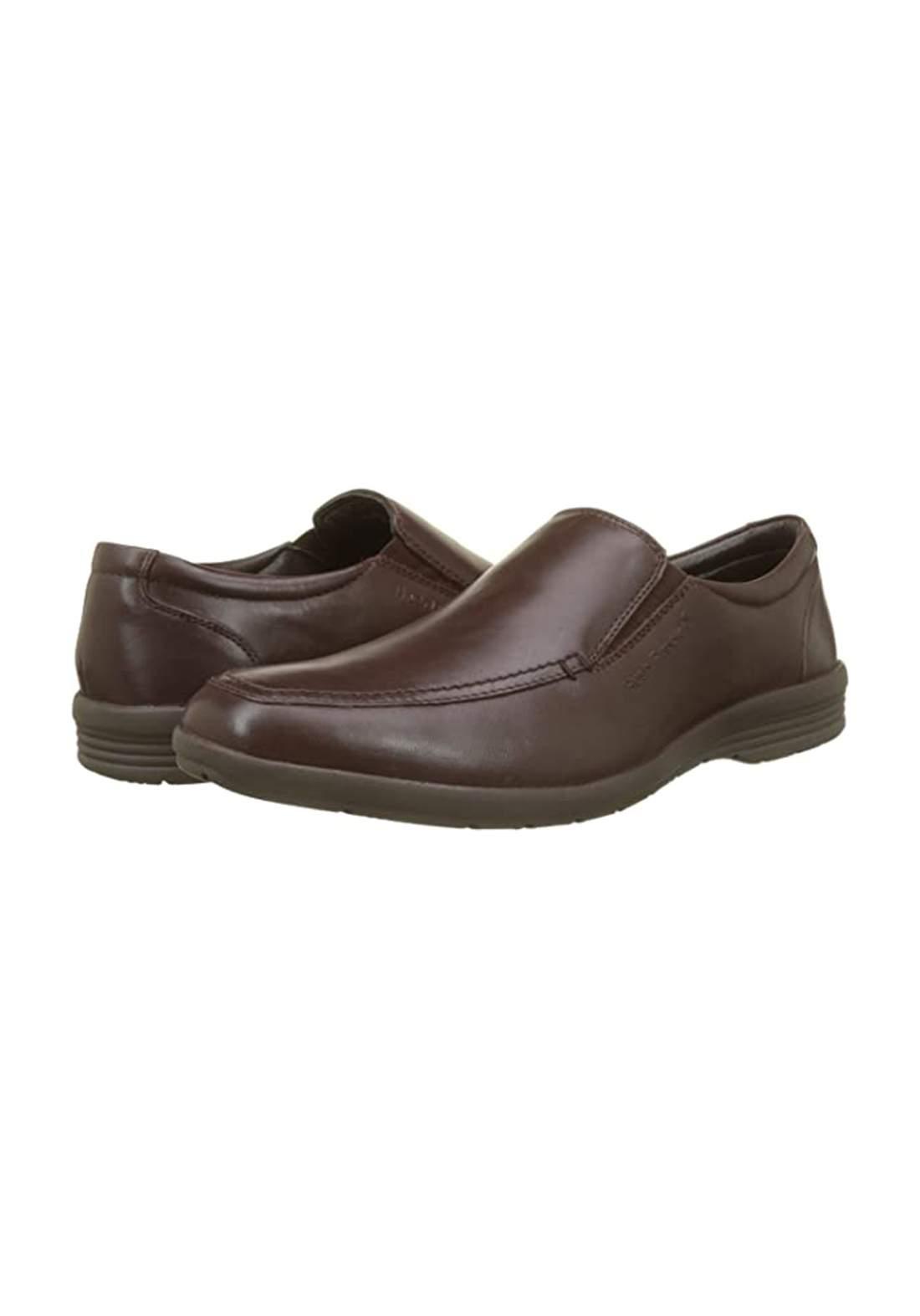 حذاء رجالي رسمي بلون بني غامق جلد طبيعي