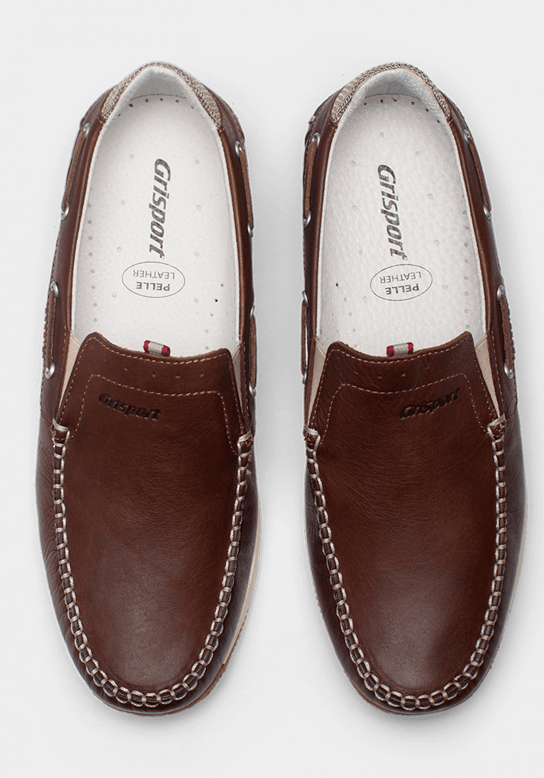 حذاء رجالي رسمي بني اللون جلد