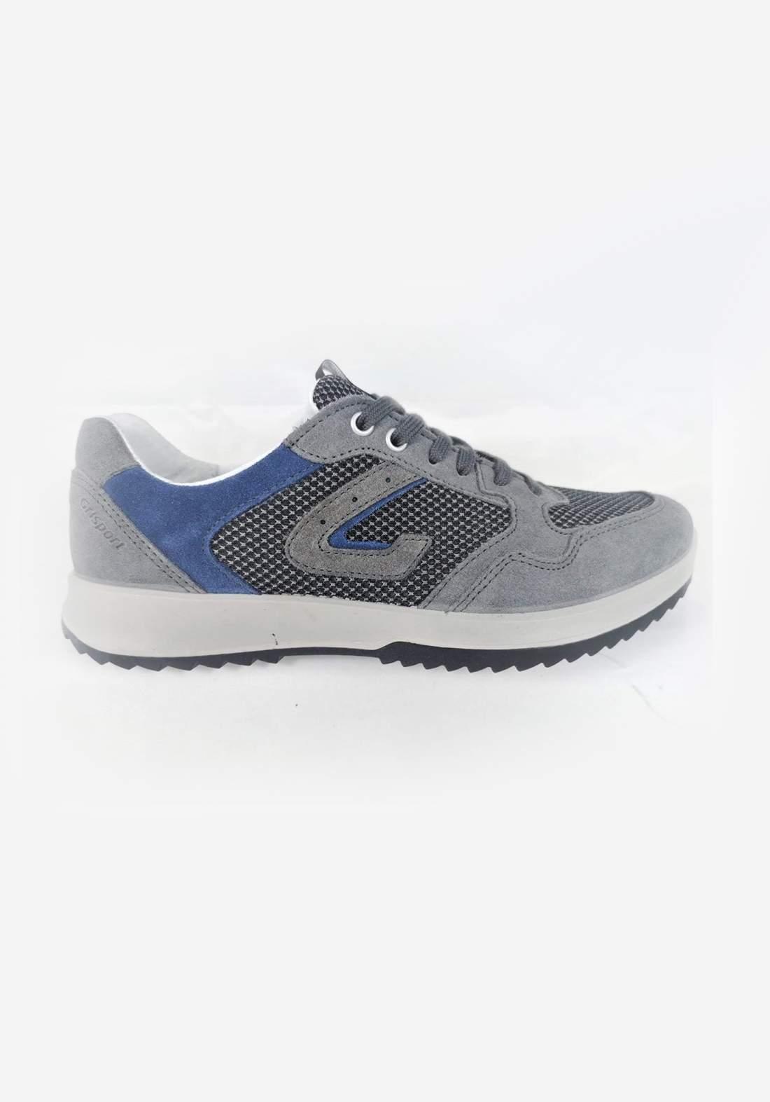 حذاء رجالي رياضي  شامواه رصاصي اللون