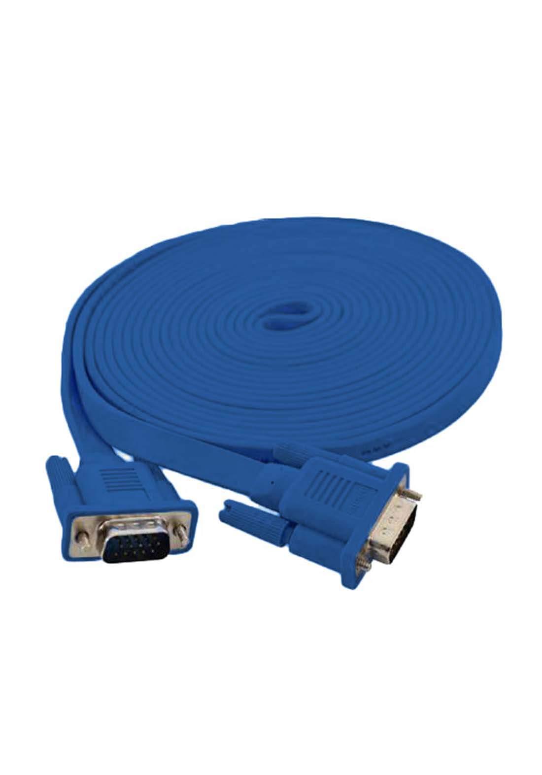 Havit VGA Flat  Cable 5m - Blue كابل