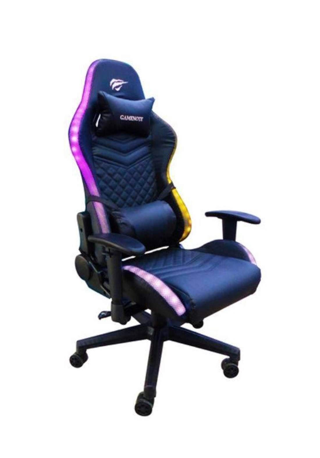 Havit  GC927   led light Gaming chair - Black   كرسي الالعاب المضيئ