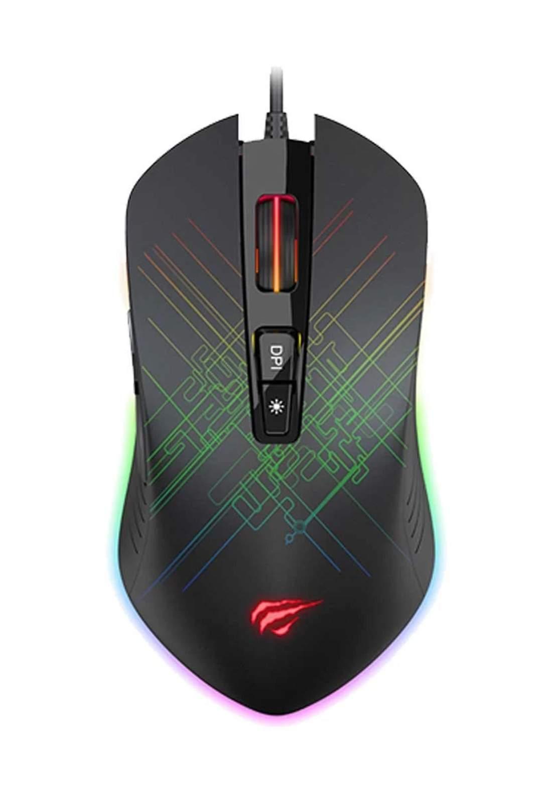 Havit MS1019 RGB Black Gaming Mouse - Black  ماوس
