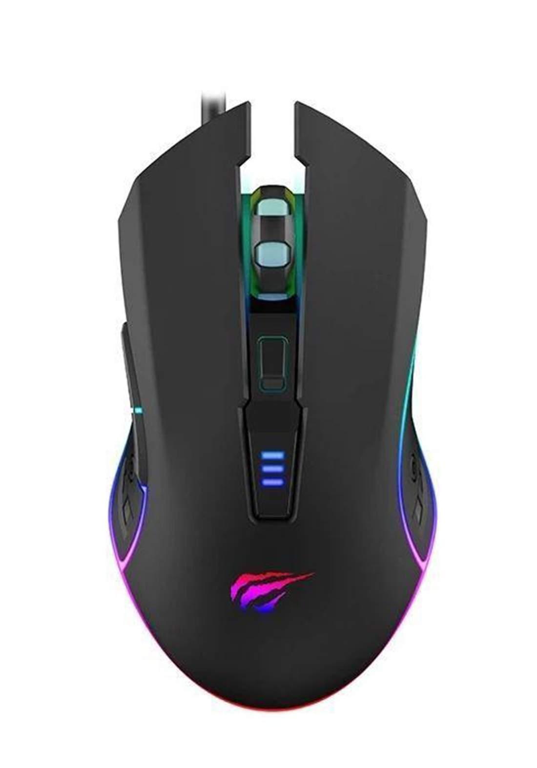 Havit HV-MS1018 RGB Optical Gaming Mouse - Black  ماوس