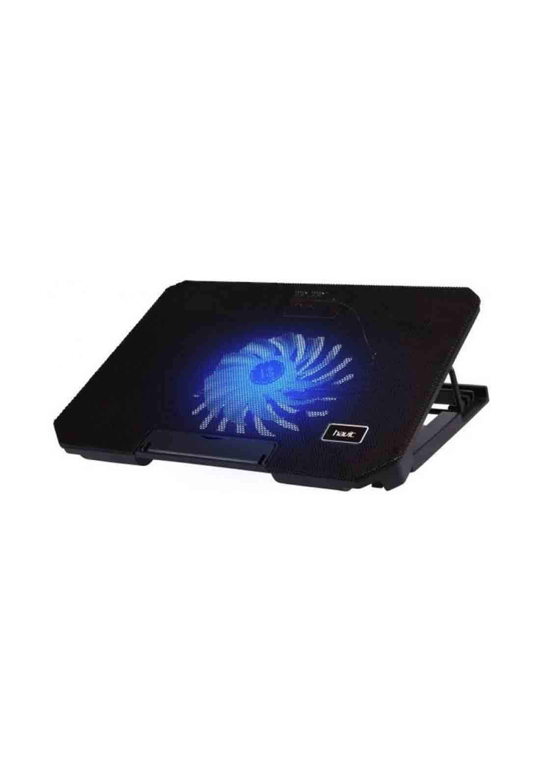 Havit HV-F2030 Single Fan Laptop Cooler With Stand  - Black ستاند لابتوب مع مروحة