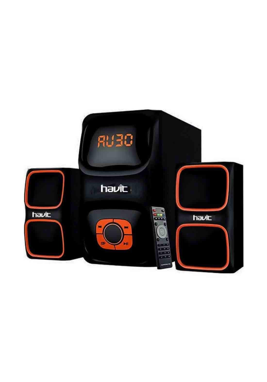 Havit HV-SF3088BT Multimedia Subwoofer Bluetooth Speaker - Black مكبر صوت (سبيكر)