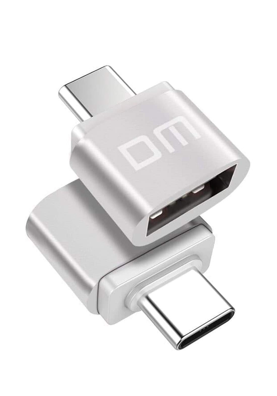 DM AD002 Type C to USB OTG Adapter- Silver