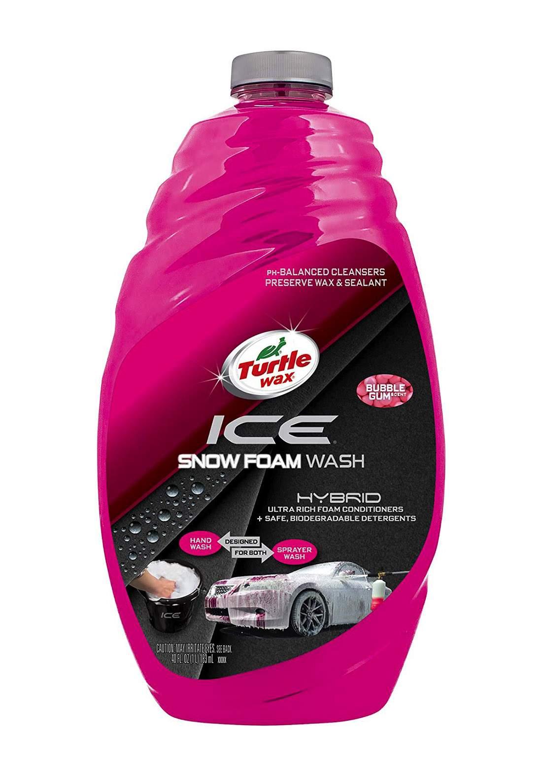 Turtle Wax Ice Snow Foam wash Car Washing Liquid 180 ml  غسول للسيارة