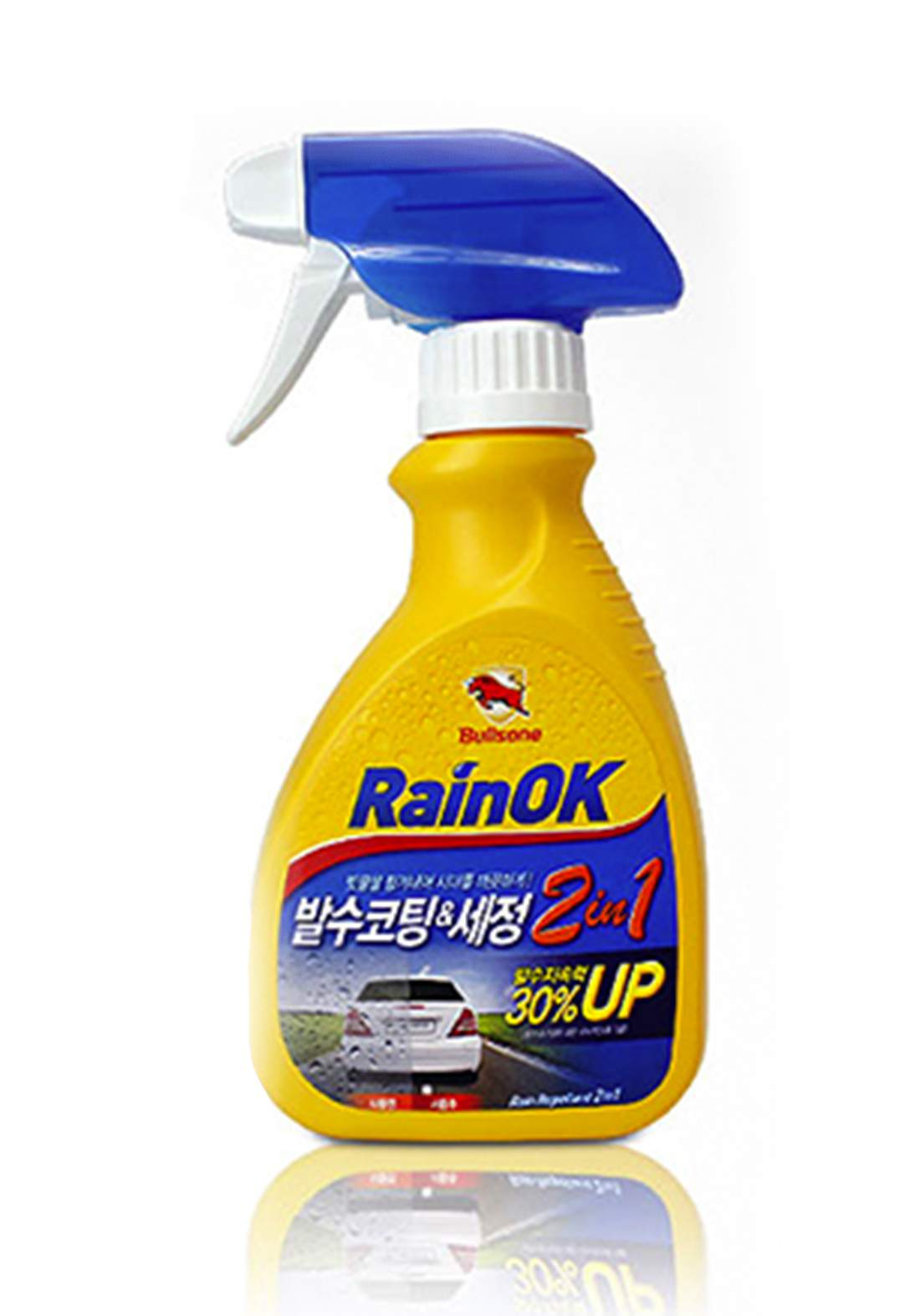 Bullsone Rainok Clean & Rain Repellent 2 In 1300ml ملمع ومنظف من زجاج السيارات