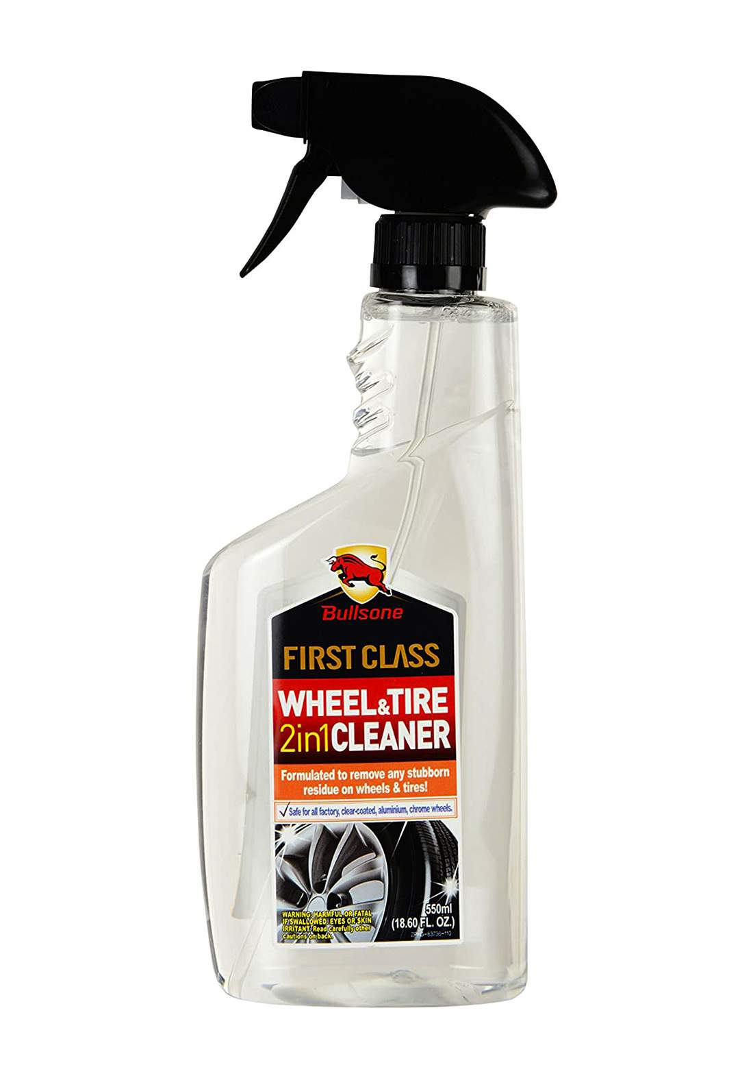 Bullsone Firstclass 2 In 1 Wheel and Tyre Cleaner 550 ml منظف الإطارات والعجلات