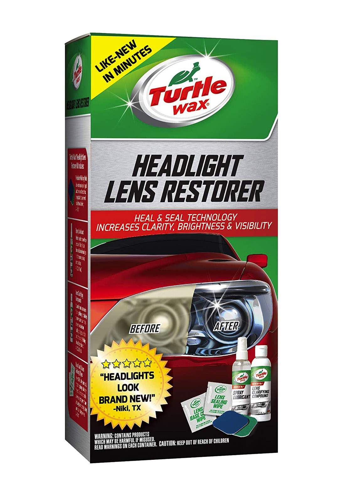 Turtle Wax  Headlight Lens Restorer 6 Set مجموعة ترميم عدسة المصباح