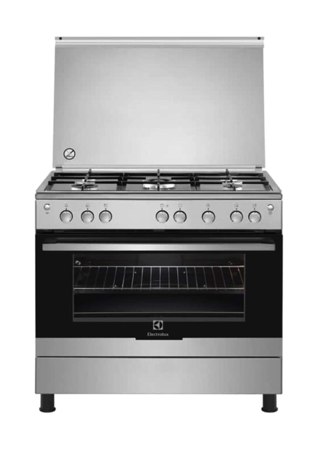 Electrolux EKG9000A4X 5 Burners Gas Cooker 90x60cm طباخ غازي
