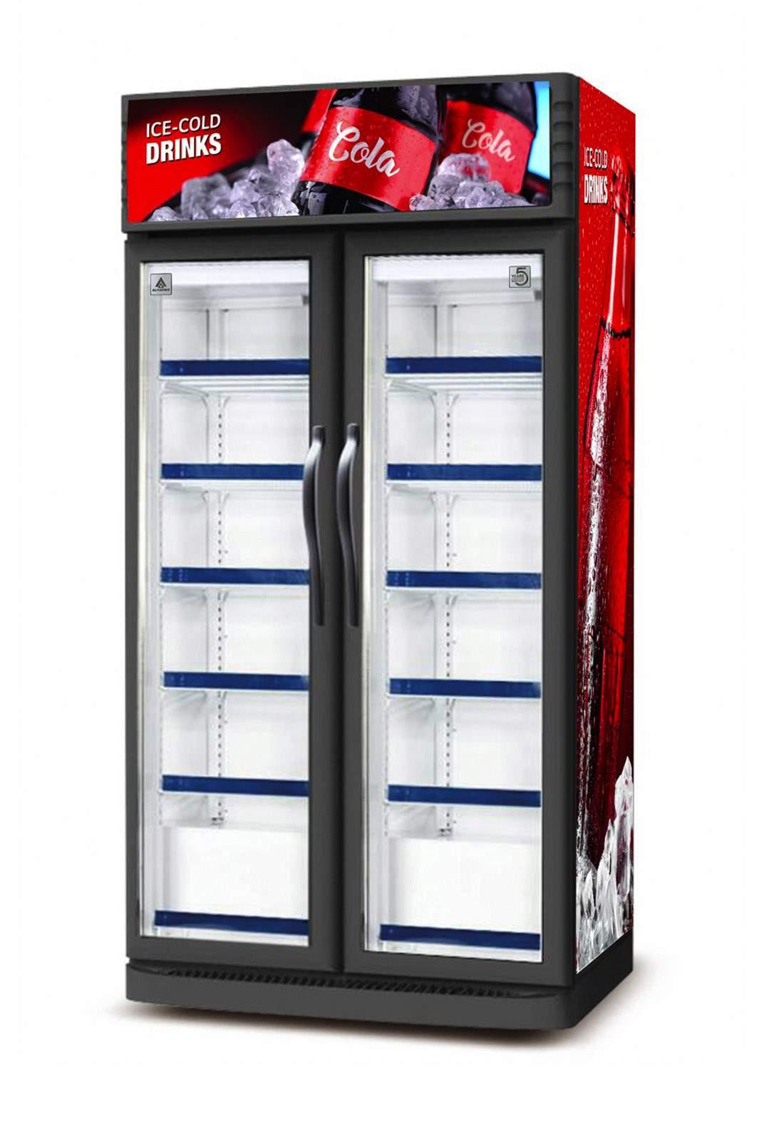 Alhafidh (USC1100) 38cf No Frost Upright Showcase Refrigerator ثلاجة عارضة