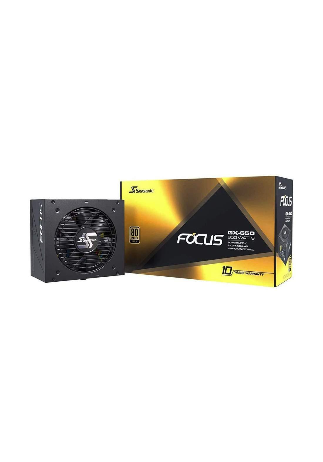 Seasonic Focus GX-650 650W 80 Gold Power Supply- Black مجهز طاقة