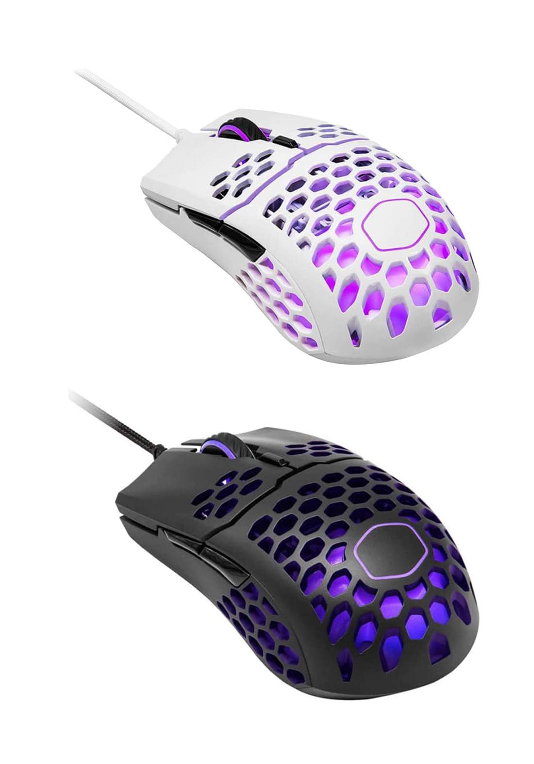 Cooler Master MM711  RGB 60G with Lightweight 16,000 DPI Gaming Mouse - White فارة