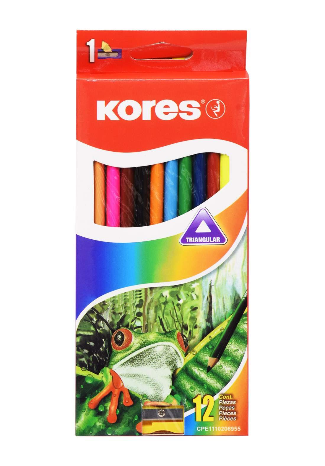 Kores Colour Pencils Set 12 Pcs اقلام تلوين