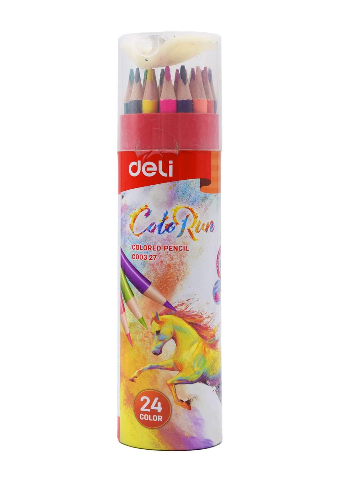 Deli Colour Pencils Set 24 Pcs اقلام تلوين