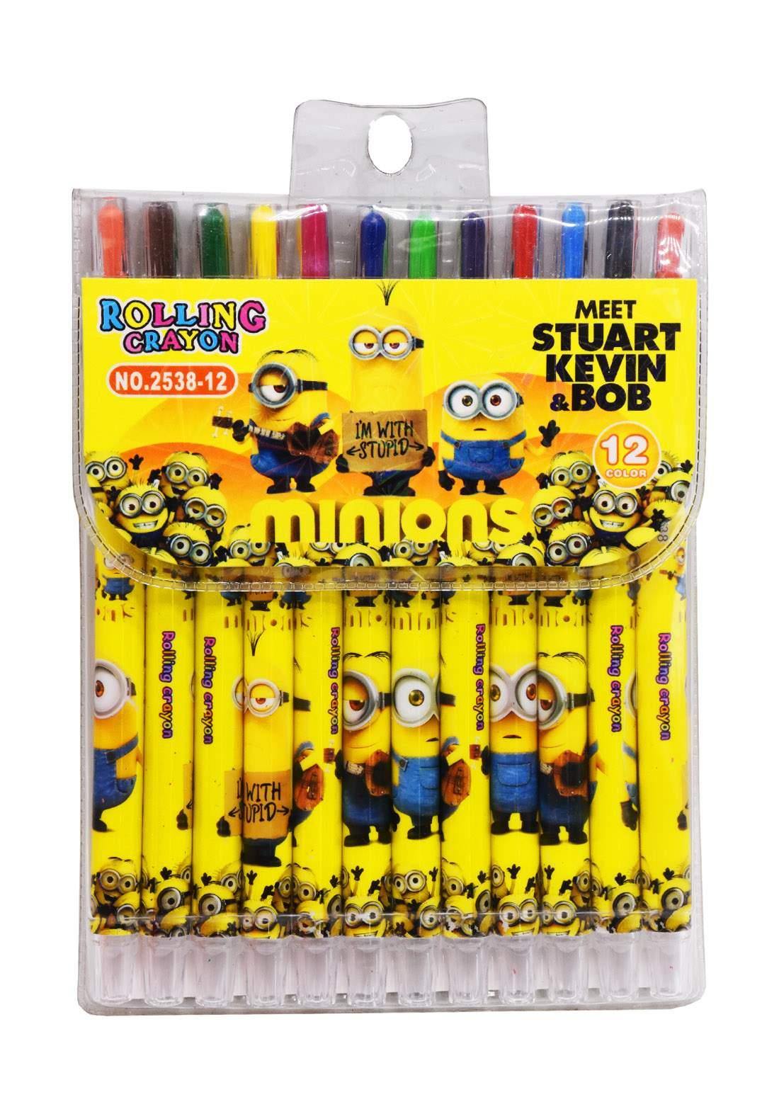 Rolling Crayon Pastel Colors 12Pcs الوان باستيل