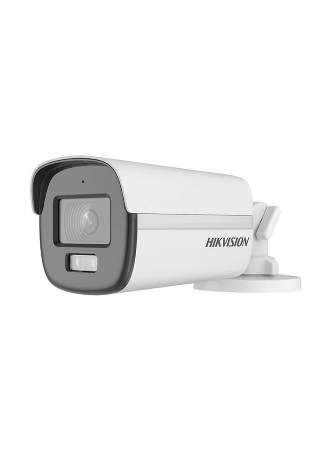 Hikvision DS-2CE10KF0T-FS ColorVu Audio Fixed Mini Bullet Camera 3.6 mm Lens - White  كاميرا مراقبة