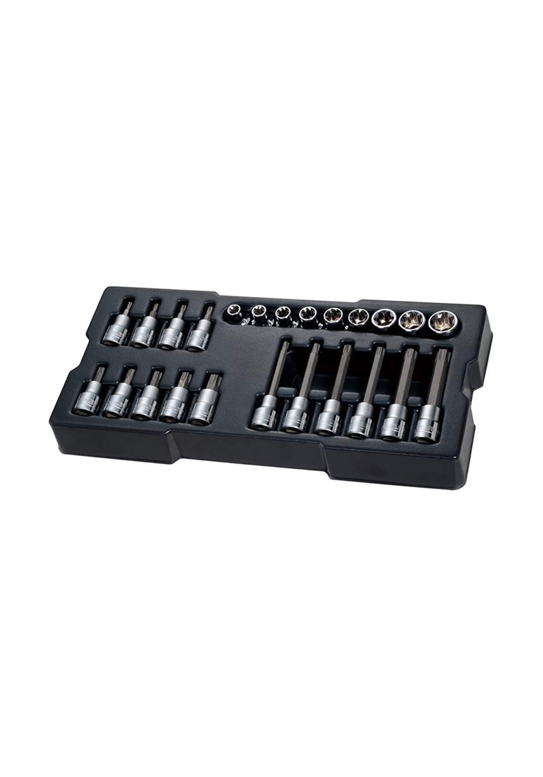 Stanley STMT74176-8 Metric Bit Socket Module  24pc 1/2 inch سيت لقم