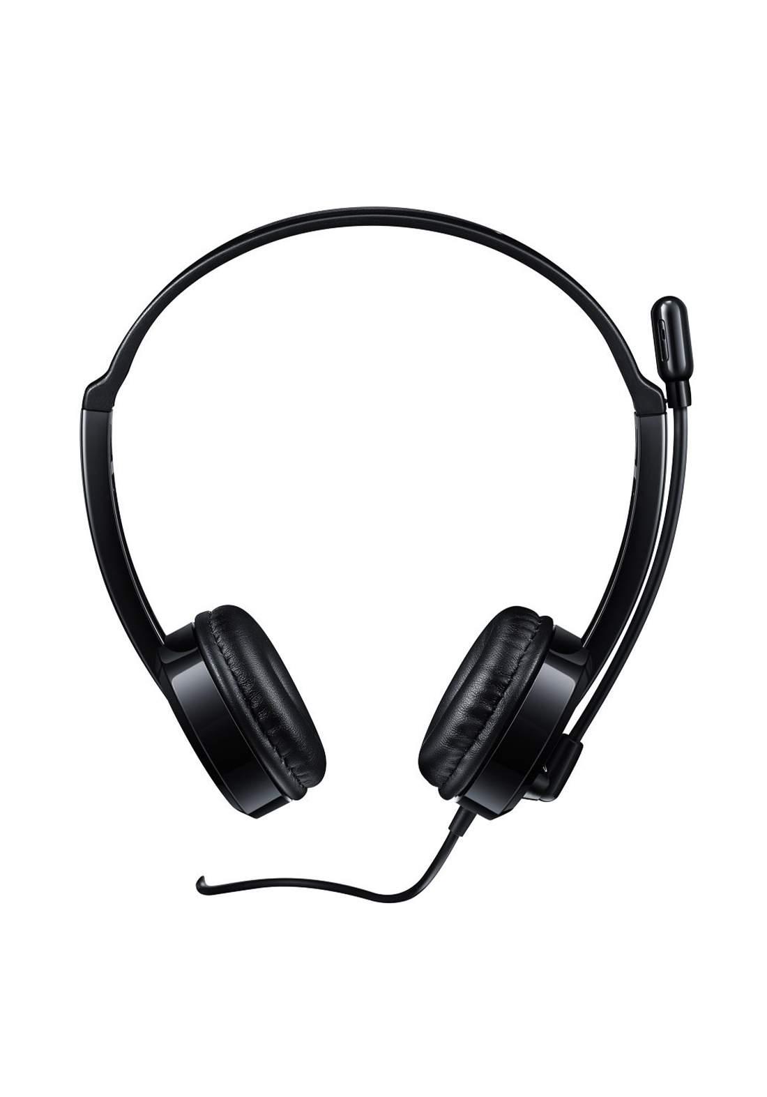 Rapoo H100 Wired Stereo Headset - Black سماعة سلكية