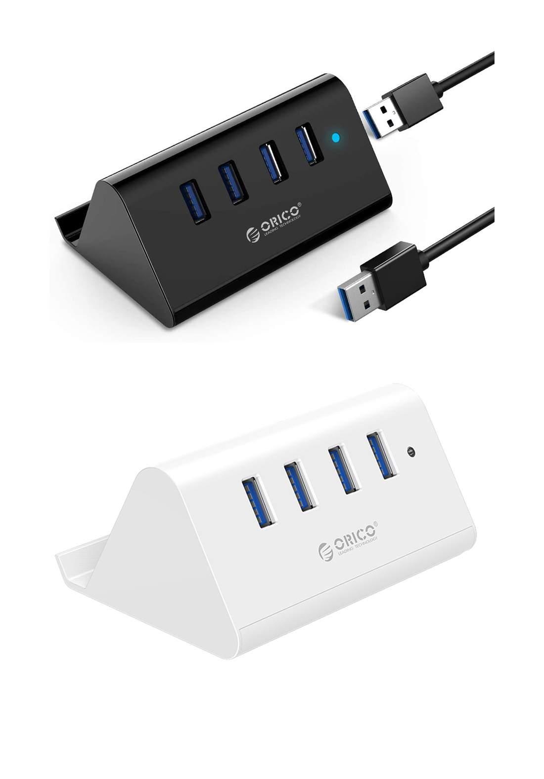 Orico Black SHC-U3 4 Port USB3 HUB With Phone & Tablet Stand