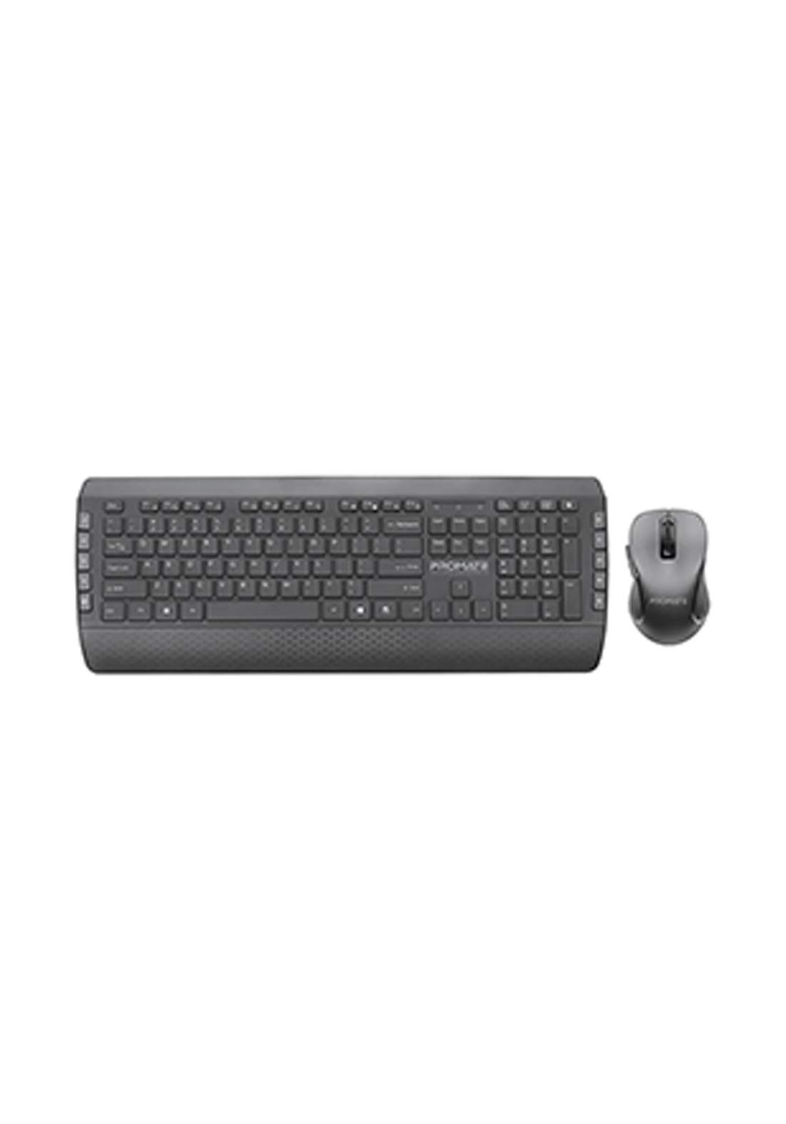 Promate ProCombo-10 Wireless Keyboard and Mouse Combo - Black  لوحة مفاتيح وفارة