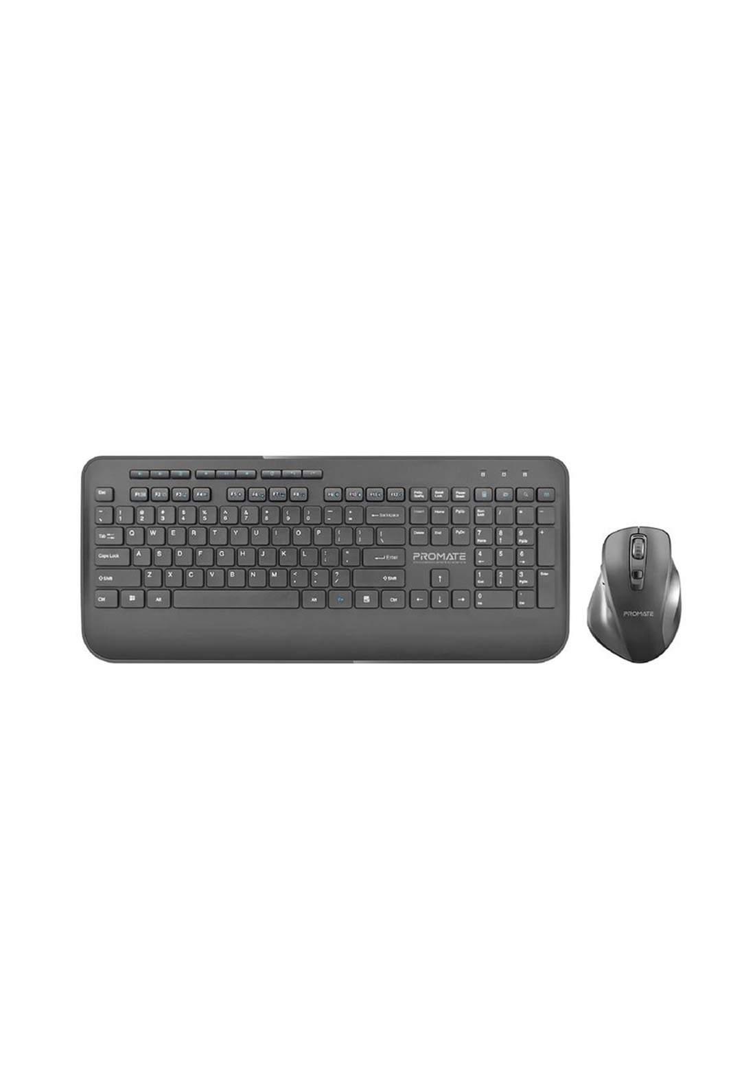 Promate ProCombo-8 Wireless Keyboard and Mouse Combo - Black  لوحة مفاتيح وفارة