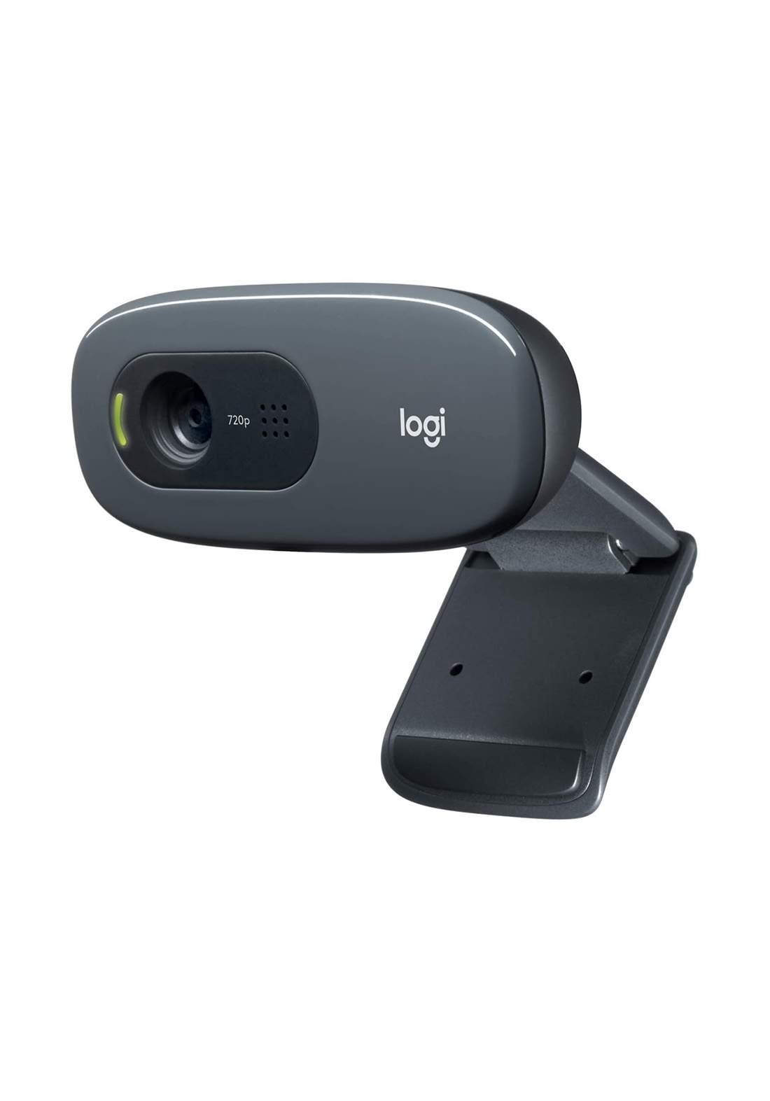 Logitech C270 Desktop or Laptop HD 720p Widescreen Webcam - Black  كاميرا