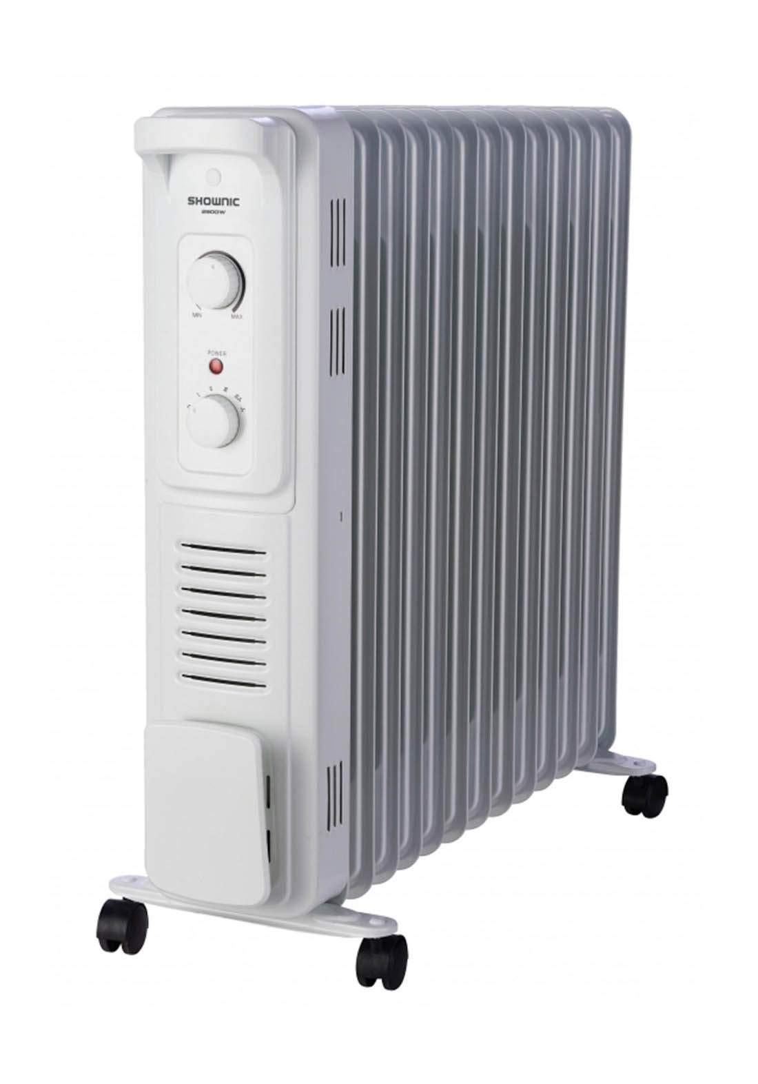 Shownic QL-13K29FW Oil Heater 13 Fins, 2900W with Fan مدفئة زيتية