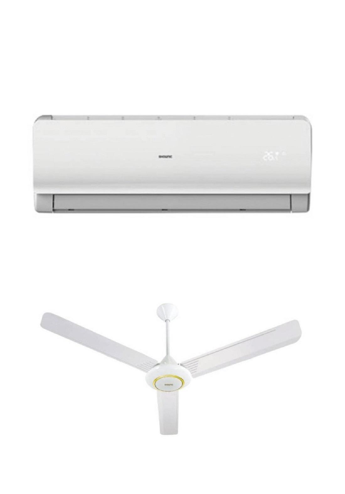 Shownic Split 18K BTU T3 Hot & Cold  Power Line - White عرض سبلت 1.5 طن +مروحة سقفية هدية