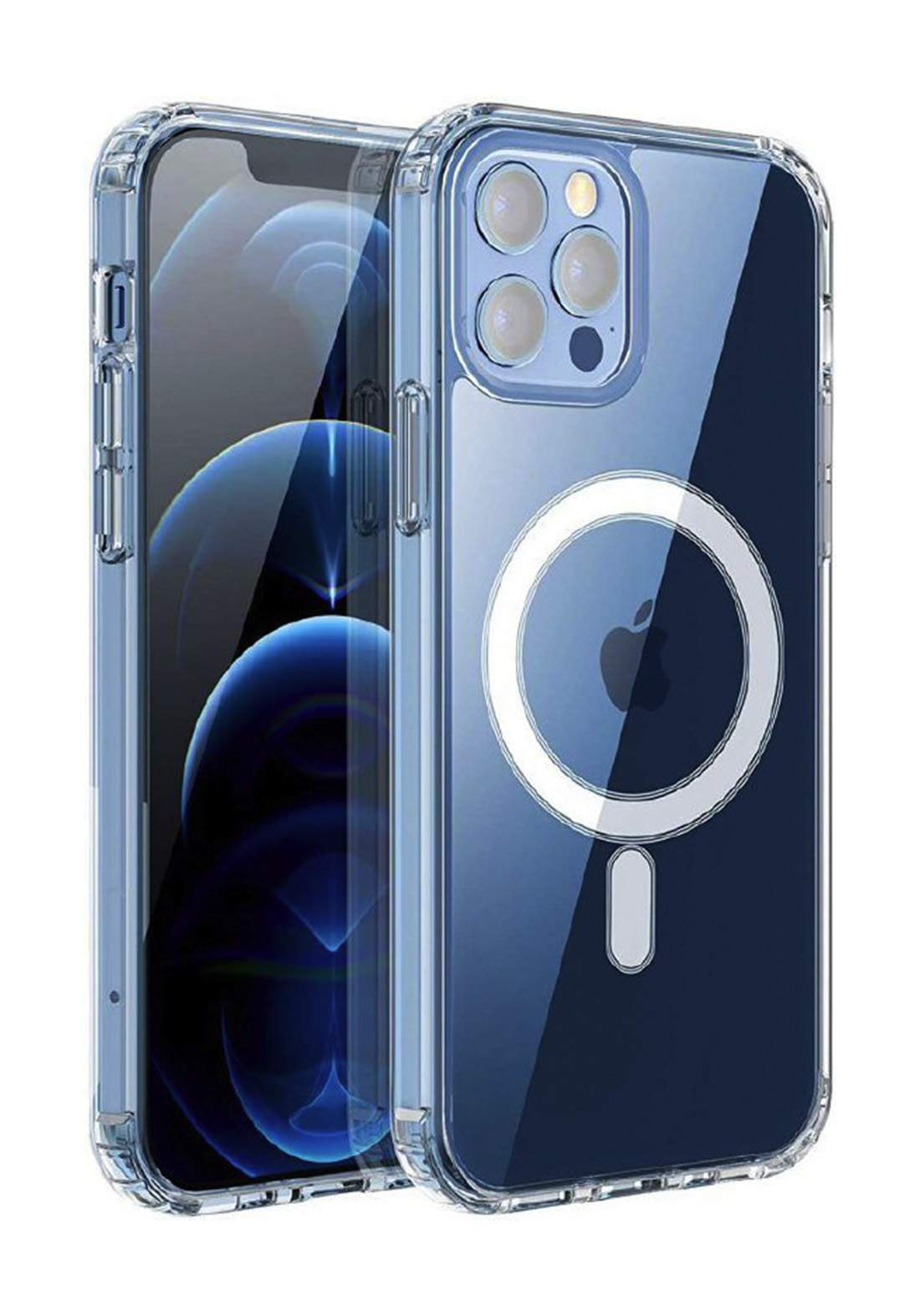 WIWU MCC-101 magnet  phone case For iPhone 12 Pro MAX حافظة موبايل شفافة