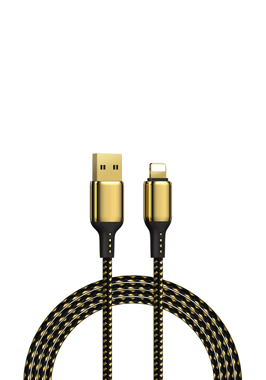 WIWU USB-A TO Micro 1.2 m Special Design 18K Data Cable  - Gold كابل